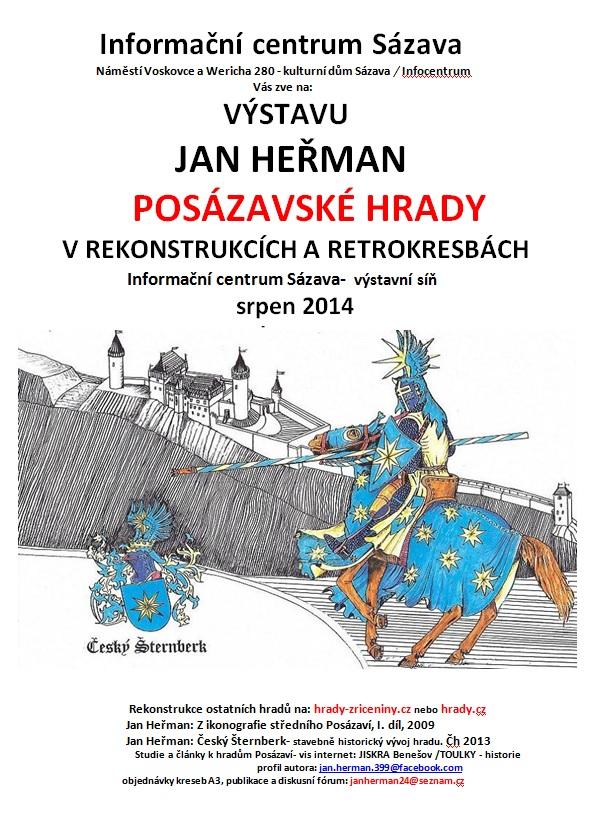 Vystava Jana Hermana Posazavske Hrady V Rekonstrukcich A